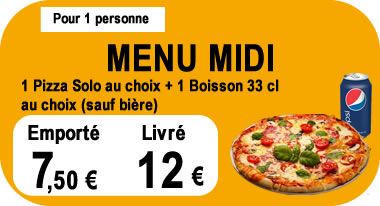 menu midi Pizza Story